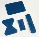 Blue detectable plaster